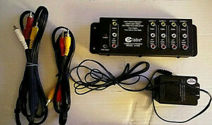 Cable Electronics AV400 Audio/Video Distribution Amplifier w/AC Adapter & Cables