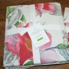 Pottery Barn Hummingbird Reversible Percale Duvet Cover King Cal King Multicolor