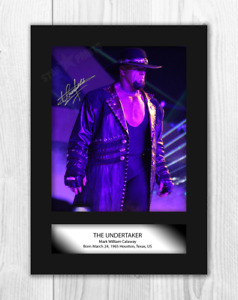 The Undertaker 1 A4 reproduction autograph photograph poster choice of frame