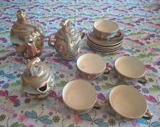Antique Japanese Satsuma Porcelain Tea Set Dragon Ware - Protruding Tongue