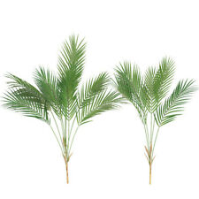Artificial Plants Palm Leaf Fake Chrysalidocarpus lutescens Fork Palm Leaves Dec