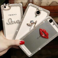 New 3D Shine luxury Bling diamonds Clear Crystal soft Back Case Cover skin #2