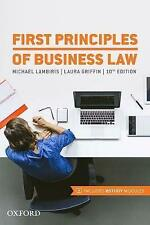 NEW First Principles of Business Law by Michael Lambiris