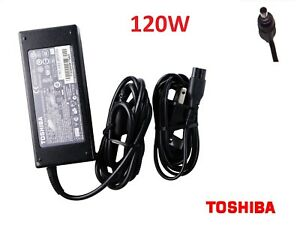 Genuine Toshiba PA3290U-2ACA 120W Laptop AC Power Supply Adapter w/Cord OEM