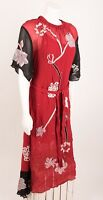 Zara Woman Dress Small Midi Beaded Embroidered Asymmetrical Beaded Red 7521/139