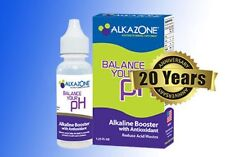 Alkazone  alkaline pH Booster drops for water, 45 day supply 1.25oz New package