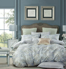 Soft Paisley Cotton Bedding Set:1 Duvet Cover & 2 Pillow Shams Queen/King/Cal K