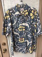 BLUEWATER Men's Hawaiian ALOHA Short Sleeve Shirt Size XL