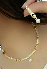 Indian Pakistani Bollywood American Diamond Necklace  Gold PLATED Jewellery Set
