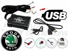 Ctaskusb 003 Skoda superba Interfaccia Adattatore USB Auto Aux Sd Ingresso MP3 JACK 2008 su