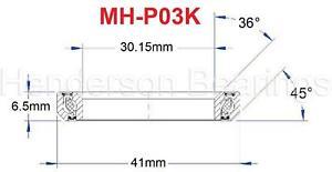 Bicycle Headset Bearing MH-P03K, MR054, MR122, TH-873 30.15x41x6.5mm 36°x45° Deg