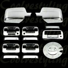 Fit Ford F150 2004-2008 Chrome Mirror 4 Door Handle Tailgate & GAS CAP Cover