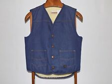 Vintage Western Wear Denim Sherpa Lined Vest Size Medium