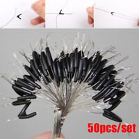 50pcs/Set  Double Hooks Contactor Device Fishing Line Space Bifurcation