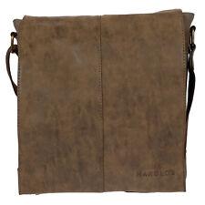 Harold's Umhängetasche Tasche Schultertasche Canvas Braun Messenger Bag Uni NEU