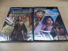 Final Fantasy X-2 BLACK LABEL / Aragorn's Quest PS2 NEW SEALED