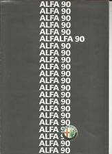 ALFA ROMEO 90  2.5 GOLD CLOVERLEAF FUEL INJECTION  SALES BROCHURE 1986