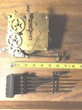 """Foreign"" Clock Movement w/ Chimes For Parts/Repair  (See Video) (Clock Lot 600)"