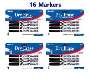 Fine Tip Dry Erase Whiteboard Black Marker 16 PCS