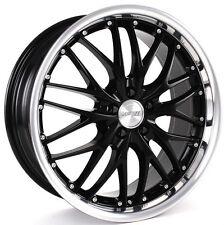 "19"" MRR GT1 Wheels For Audi A4 A5 A6 A8 Q5 VW 19x8.5 Inch Black Rims Set (4)"