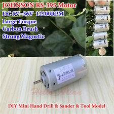 JOHNSON RS-395 Mini Motor DC5V-36V 24V Large Torque Strong Magnetic Carbon Brush