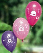 8 Ballons imprimé princesse coloris assortis. anniversaire,baptême,communion