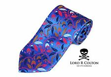 Lord R Colton Masterworks Tie Sapphire Ruled By Secrecy Silk Necktie - $195 New