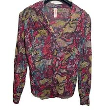 Sweet Pea Stacy Frati Size Small 100% Nylon Multicolor Snakeskin Print Top