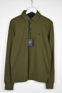 RRP $139 GANT SOLID FINE JERSEY RUGGER Men MEDIUM Soft Polo Sweatshirt 14287_