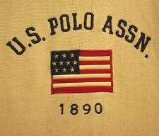 US POLO ASSOCIATION knit sweater XL emblem 1980s logo USA flag embroidery 1890