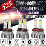 Combo 9005+9006+H11 LED Headlight Hi/Lo Beam Bulb 6500K 7000W 980000LM Fog Light