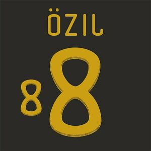 Ozil 8. Germany Away football shirt 2010 - 2011 FLEX NAMESET NAME SET PRINT