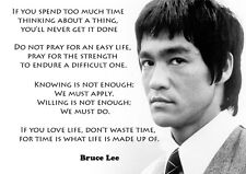 Bruce Lee-feuilleté A3 Poster-motivation COTES-Philosophie-Arts Martiaux