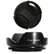 62mm Lens Hood Flower Crown Wide Petal Shape and Lens Cap for Tamron 18-250 lens