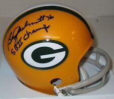 Packers BEN WILSON Signed Riddell 2 Bar Mini Helmet AUTO - w/ SB II CHAMPS