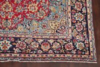 Christmas RED/BLUE Traditional Floral Najafabad Hand-Knotted Area Rug Wool 8x12