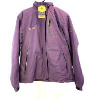 NWT Moerdeng Plum Color Men's Hooded Fleece Lined Windproof Jacket Size XL