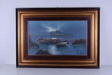 Quadro Mario Galanti, 60 x 35 cm. Olio su tela.