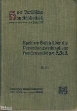 Gesetz Verwaltungsrechtspflege Sachsen 1911 Juristische Handbibliothek Band 131