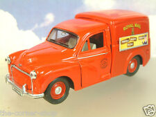 """SAICO 1/26 DIECAST MORRIS MINOR VAN ROYAL MAIL RED """"PROPERLY PACKED PARCELS"""""""