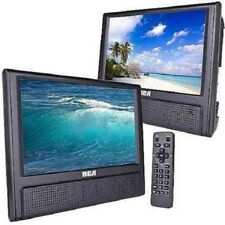 "9"" Portable Dual Screen DVD Player Video Game Player AV Cable Car RV Travel TV"
