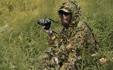Camo 3D Fast DryJungle Leaf QuietRealtree Ghillie Suit Jacket+Trousers
