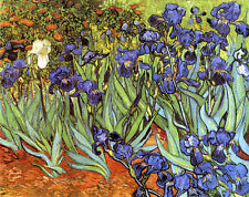 Iris Schwertlilien Blumen Post Impressionismus Bütten Vincent van Gogh A3 075