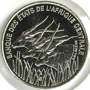 1996 Central African States 100 FRANCS KM# 13 UNC Nickel coin
