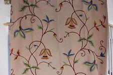 """Art Deco Vintage Home Decor Crewel Curtain Panel c1926-1934~105""""L X 44""""W"""