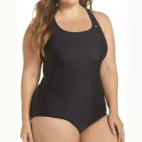 Nike women's Cutout Racerback One Piece Black Swimsuit plus size 3X retail $96