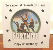 Gaming Fortnite Playstation XBox Personalised Birthday Card Son Grandson Nephew