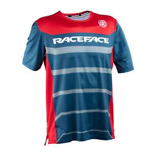 Race Face Indy Short Sleeve Jersey - Navy - Medium - Brand New