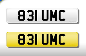 831 UMC CHERISHED NUMBER PERSONAL PLATE