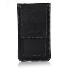 New Flip Leather Case Card Pouch Bag Sleeve Belt Clip Loop Universal For Phones